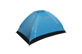 1-2 People Fully Automatic Portable Tent Family Picnic Travel Rainproof Windproof Outdoor Tent(blue)(Style B)