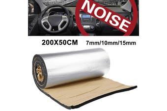 Universal 7mm/10mm/15mm 200x50cm Square Aluminum Foil Sound-absorbing Cotton Soundproof(10 mm)