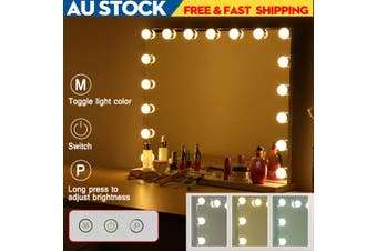 Hollywood Makeup Mirror With Light LED Bulbs Vanity Beauty Dressing Room(black)