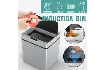 Infrared Vibration Sensing Automatic Open Smart Waste BIn Induction Trash Can