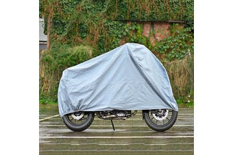 Waterproof Waterproof Motorbike Scooter Cover Shelter Rain UV Protection M/L/XL Fits All Motorcycle(1PC XL)