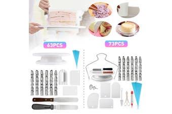 73 Pcs Baking Supplies Kit DIY Cake Cupcake Decorating Icing tips Set Tools