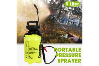 5 Liter Portable Pressure Sprayer Hand Pump Bottle Lance Nozzle For Home Garden(5L 18x45cm)