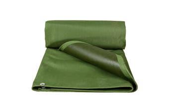 Army Green Heavy Duty Canvas Tarp Tarpaulin Sun Blocked Waterproof Dustproof Inner rubbers(118x118inch (3x3m))