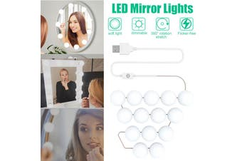 14 Bulbs Make Up Bathroom Dressing Room Mirror LED Lights Vanity Dimmable Dressing Table Lamp Hollywood(Only 1PC LED for Replace)