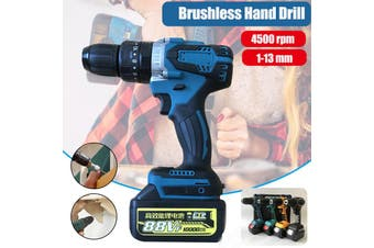 100 (W) Brushless Impact High Power Industrial 13mm Rechargeable 4500 rpm Drill High Power 23-48 (n * m) Drill (Without Battry)(yellow)(Brushless bare machine)