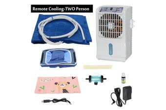 2in1 Air Conditioner Fan Cooler + Water Cooling Bed Ice Pad Mat Mattress Cushion(Without Remote Controller)