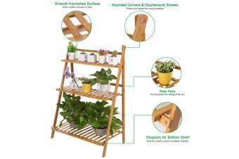 50CM/70CM/100CM Multi-Tier Wooden Plant Flower Stand Plant Shelf Standing Flower Shelf Flower Pots Rack Display Outdoor Decor