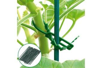 AU 100Pcs Garden Yard Plastic Plant Ties Twist Cable Tree Climbing Support(green)(100PCS)