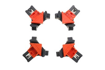 4PCS 90 Degree Right Angle Clamp Fixing Clips Picture Frame Corner Clamp Woodworking Hand Tool Angle Clamps Pipe Clamp