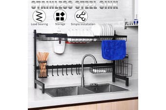 Dish Drying Rack Kitchen Shelf Stainless Steel Over The Sink Storage Holders(62x28x54.5CM)