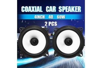2Pcs 4 Inch 60W 4Ω 2 Way Auto Car Coaxial Vehicle Door Audio Stereo Speaker Amplifier speaker