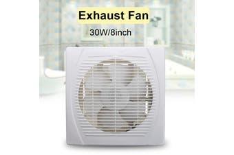 30W 8inch Entilation Exhaust Fan Blower Window Wall Kitchen Bathroom Toilet