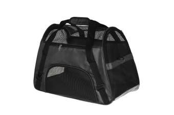 Pet Puppy Cat Dog Carrier Shoulder Bag Travel Carry Pouch Handbag Backpack Black(black)(L)