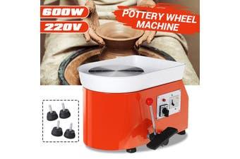 600W Electric Pottery Wheel Ceramic Work Machine Clay Art Craft DIY Teaching