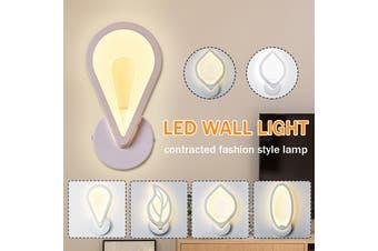 Modern Minimalist 10W LED Wall Light Fixture Sconces Lamp Acrylic+Metal Bedside Hallway Stairs Bedroom Aisle Hotel Bar Decoration AC220V(white)(Style 3 AC220V)