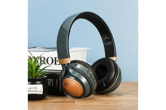 LED Wireless bluetooth Headphone Folding Noise Cancelling Stereo Headset(grey)(newest bluetooth 5.0)