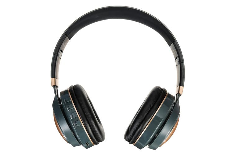 LED Wireless bluetooth Headphone Folding Noise Cancelling Stereo Headset(grey)(newest bluetooth 5.0)