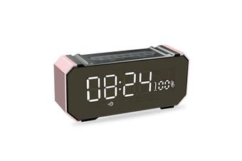 bluetooth Portable Wireless LED Speaker Stereo Soundbar Music Stereo Alarm Clock USB AUX FM Radio Handsfree Music Player Gold(rosegold)(Rose Gold)