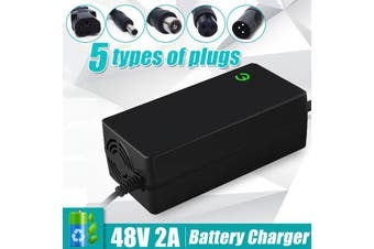 48V 2A Lithium Battery Charger Electric Motorcycle Electric Bike Li-ion Battery(Plug C)