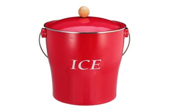 4L Detachable Inner Tank Ice Bucket Wine Champagne Ice Container Cooler Holder(red)