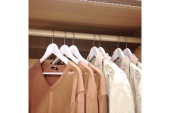 Wood White Clothes Hangers 40pcs/set Space Saver Wonder Magic Closet Organizer Hooks Windproof Travel Racks(5pcs)