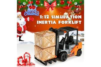 Children's Simulation Inertia Forklift Toy Shockproof Boy Simulation Toy Car Model Kids Toys Children Christmas Gifts(type b)
