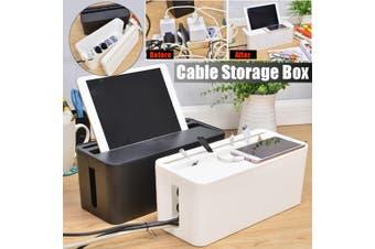 Cable Storage Box Case Wire Management Power Plug Cord Socket Safety Organizer(black)(Type4 Black)
