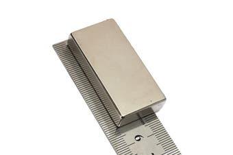 1PC Neodymium Block Magnet N52 Rare Earth Magnets Very Powerful NEO Magnets DIY MRO 50 X 25 X 10mm Silver(1pc 50x25x10mm)