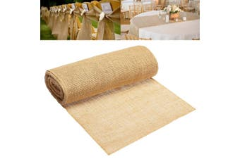 30x10m Hessian Jute Burlap Roll Vintage Table Runner Home Wedding Decor(30cm by 10m)