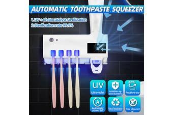 UV Light Toothpaste Dispenser Toothbrush Sterilizer Holder Wall Mount Automatic(Type 1)