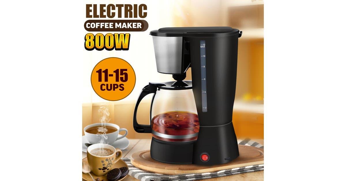 800w Mini Coffee Maker 12 Cups Automatic Maker Filter Glass Carafe Espresso Kogan Com