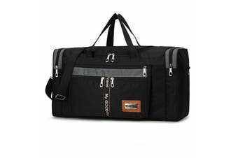 Portable Large Capacity Oxford Cloth Sport Bags Gym Duffle Bag Travel Luggage Casual Shoulder Bags Men Women(black)(TYPE A)
