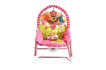 Baby Infant Rocker Bouncer Chair Music Swing Toys Sleeper Cradle Seat(pink)
