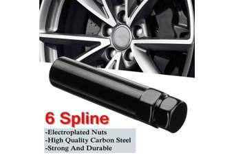"1pcs Black 6 Spline Drive Lug Nut Tuner Key Wheel Lock Tool 19mm 21mm 3/4"" 13/16""(1pc)"