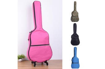 39''-41'' Double Straps Acoustic Guitar Soft Carry Case Gig Bag Padded Backpack(pink)