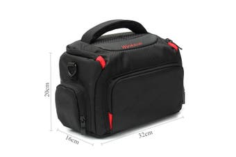 DSLR SLR Camera Waterproof Shoulder Bag Carrying Case For Canon Nikon(Type B Black L)