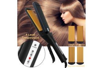 Pro 4 in 1 Replaceable Ceramic Curling Flat Iron Hair Crimper Straightener 2020