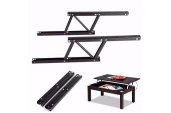 1 Pair Lift Up Top Coffee Table Lifting Frame Mechanism Spring Hinge Hardware DIY(black)