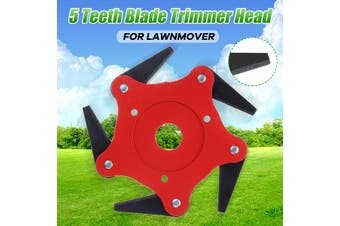 Updated Trimmer Head 65Mn 3/5 Teeth Blade Trimmer Head Brush Cutter Blade for Lawnmower-5 T(red)(Only 5 Teeth Trimmer Head)
