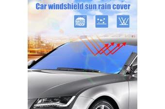 Car Windscreen Windshield Sun Shade Heat Reflective Visor Front Window UV Block(blue)
