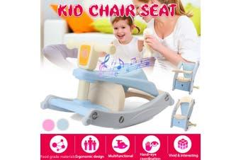 Multifunctional Baby Feeding Dining Chair Portable Kids Table Rocking Horse Toddler Riding Boys Girls(pink)