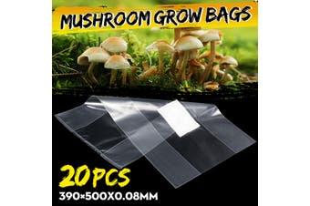 20Pcs Mushroom Grain Grow Bags Fill w/Spawn Media Grow Pre Sealable 390×500x0.08mm(20pcs)