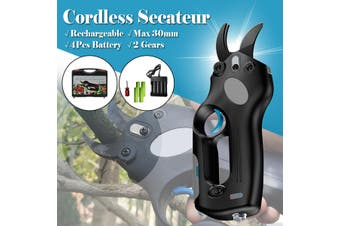 Cordless Rechargeable Pruning Shears Secateur Branch Cutter Scissor Snips Kit