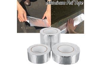 Aluminum Foil Adhesive Tape Stop Leak Heat Resistant Pipe Repair Crack Tape(10cm by 5m)