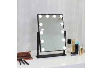 35.5x47.3 cm Hollywood Makeup Mirror With Light LED Bulbs Vanity Beauty Dressing Room(black)