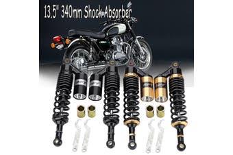 "13.5"" 340mm Shock Absorber Air Suspension Damper For Honda Black Motorcycle #Black(blackgray)(340 mm)"
