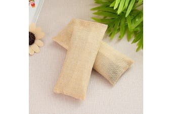 100g Activated Bamboo Charcoal Deodorizer Natural Air Purifier Bag Odor Remover # Beige(beige)(2Pcs/Set)