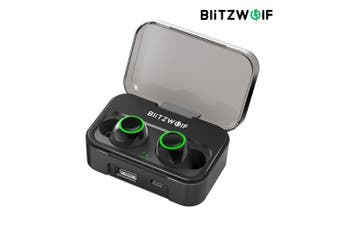 Blitzwolf BW-FYE3 True Wireless Bluetooth 5.0 Earphone HiFi Bilateral Calls with 2600mAh P0wer Ba/nk(black)(Without Digital Power Display)