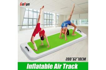2MX0.62MX0.1M Outdoor Water Sports Inflatable Floating Pontoon Pool DWF Gymnastics Yoga Mats Inflatable Gym Mat(green)